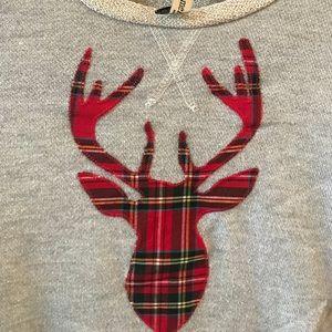 Other - Embroidered reindeer sweatshirt